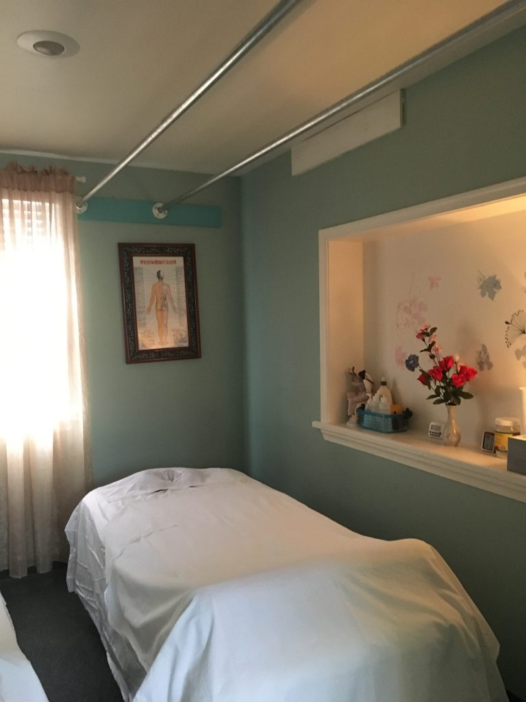 Inside Heavenly Spa massage room
